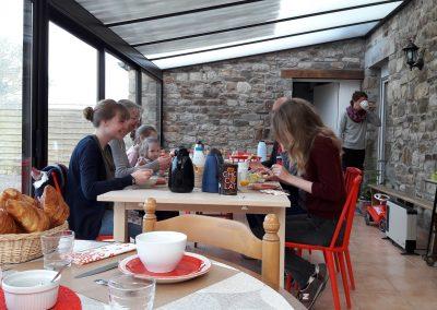 Frühstück in veranda